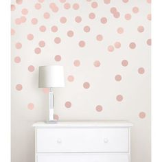Rose Gold Confetti Dot Decals - Wallpops - So cute and elegant looking! Easily application and removable! Home decorating Room decor - room decor Ideas - decoration Ideas - rental home decorating - Home Improvement Gold Nursery, Gold Bedroom, Polka Dot Nursery, Wall Stickers Rose Gold, Rose Gold Wall Paint, Rose Gold Wall Decor, Girls Wall Stickers, Round Stickers, Bedroom Wall Stickers