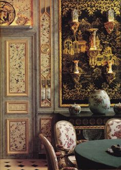 Extraordinary dining room by Geoffrey Bennison courtesy of The Art of the Room. My absolute favorite blog!