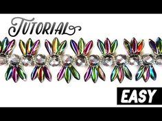 "Tutorial: beaded bracelet ""Exotica"" using DAGGER beads / Легкий браслет из бисера ""Экзотика"""