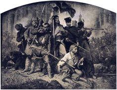 Artur Grottger - bitwa  (Powstanie styczniowe 1863 r. )