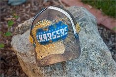 Cabeza Couture Bronze Shimmer San Diego Chargers Hat