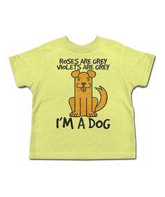 Banana 'I'm A Dog' Tee - Toddler & Kids by American Classics #zulily #zulilyfinds