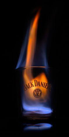 Jack Daniel's on fire