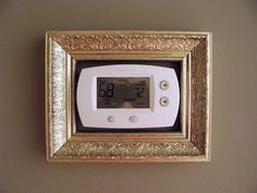 Thermostat decor. Perfect for  wall with unflattering thermostat in the center.