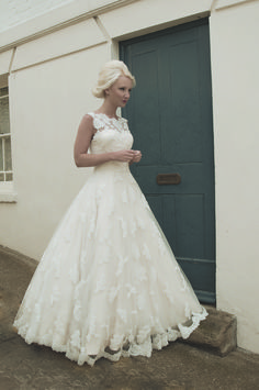 Amazing Alexandra Dress by House of Mooshki A line full satin skirt with tulle overlay with