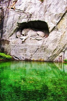 The dying Lion of Lucerne, Switzerland