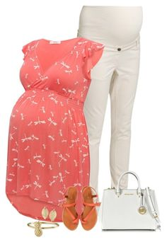 """""""maternity look"""" by divacrafts ❤ liked on Polyvore featuring ESPRIT, M&Co, Jigsaw, Michael Kors and Original"""