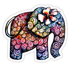 colorful elephant tattoos - Google Search