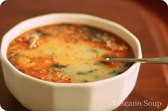 Tuscano Soup (like Olive Garden's)--DEF making a vegetarian version of this