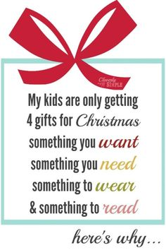 Why My Kids Are Only Getting 4 Gifts This Year (And What We Bought For Them) - Cleverly Simple®