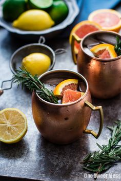 Rosemary Citrus Moscow Mule