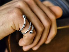 FATHERS DAY Pure Silver Male Jewelry Mens Coil by AhimsaDesigns, $69.00