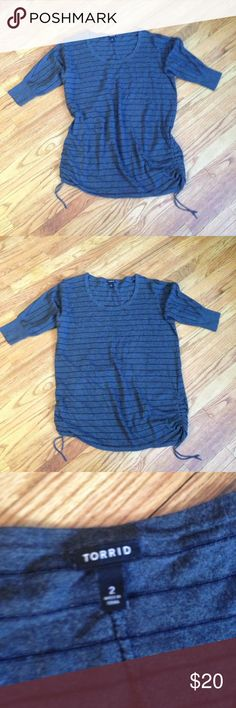Cute torrid long sweater size 2 This is a long sweater but not quite dress length.  Would be cute paired with leggings and boots or with jeans.  Even dress pants for work.  Thank you for viewing this post.  Please check out my other items. torrid Sweaters