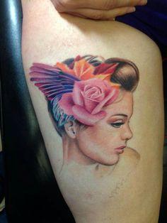 #SusannahGriggs #Susannah #Griggs #Realistic #Rose #Floral #Nature #Jewel #Color #Tattoos #Eternalink #Neotats #Neotatartist #Neotatlady #Ladytattooer #Michigantattooer