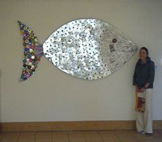 art sculptures made from recycled materials | Ms Condren at the Exhibition