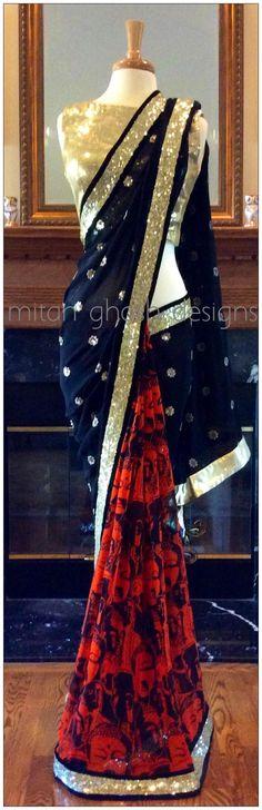 Georgette Digital Print #Saree By Mitan Ghosh Designs.
