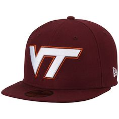 new style b575f d23bd Virginia Tech Hokies New Era Basic 59FIFTY Fitted Hat - Maroon