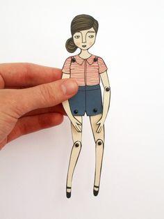 Miniture paper doll