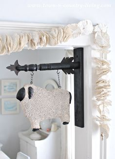 A super easy garland made from book pages - how cute!