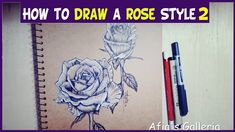 HOW TO DRAW A ROSE- 4 different ways. Roses are very popular and beautiful flowers, commonly seen as a symbol of love. They're very difficult to draw, though.