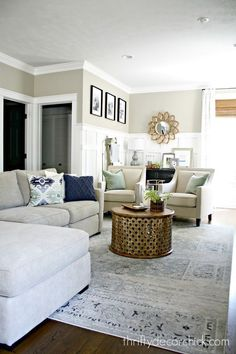Our Most Repinned Rooms Ever  White Family Rooms Coastal And Room Classy Home Design Living Room Furniture Inspiration