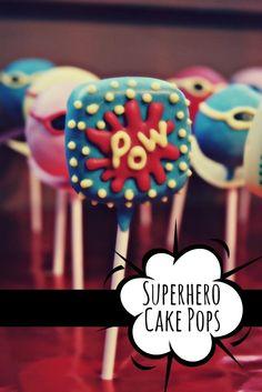 Cake Pops for a Boy's Superhero Birthday Party