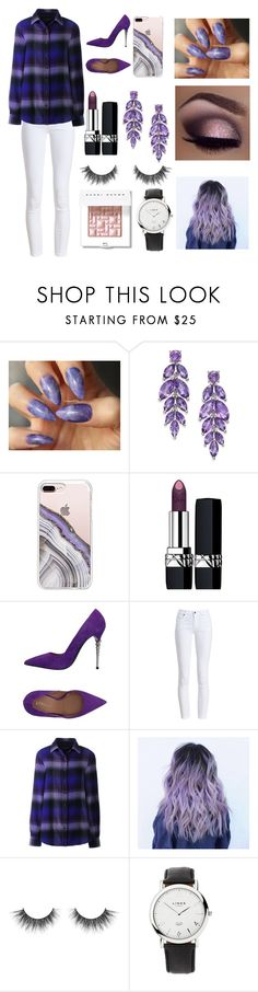 """""""Purple themed look"""" by couchpatato ❤ liked on Polyvore featuring Steve Madden, Christian Dior, Le Silla, Barbour, Lands' End, Links of London and Bobbi Brown Cosmetics"""