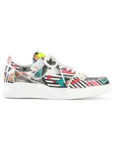 DOLCE & GABBANA Abstract Print Sneakers. #dolcegabbana #shoes #sneakers