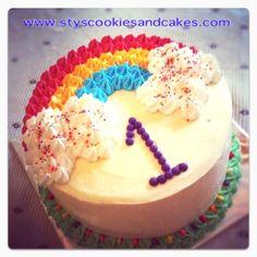 Rainbow Cake... 7 layers with cream cheese