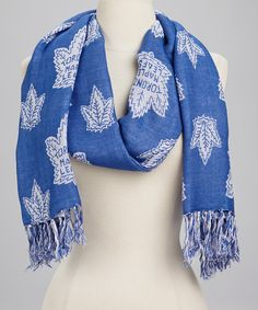 Take a look at this Blue & White Toronto Maple Leafs Scarf by Sportin' Styles on today! Toronto Maple Leafs, Maple Leafs Hockey, Hockey Quotes, Stay Warm, Womens Scarves, Nhl, What To Wear, That Look, Cute Outfits