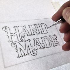Hand lettering work in progress