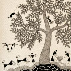 Warli art by jivya soma mashe online shopping India | IndianRoots ...