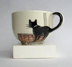 Resultado de imagem para Canecas com gatos pintados