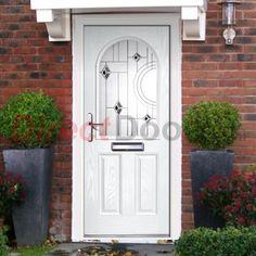 Lifestyle Image of Exterior Simplicity Claston Bellini Composite Door, shown in White
