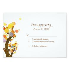 Stylish Country Trees Wedding RSVP Card