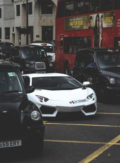 Aventador on London streets.