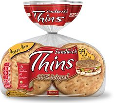 Sandwich Thins Integral de Bimbo (Supersol y Eroski) - 1 unidad 2 puntos.