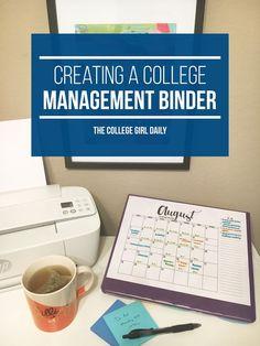 binder, management binder, college, college binder, college organization, college planner, planner, school binder, homework binder,