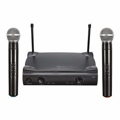 ELEGIANT Dual Wireless Microphone System  Professional Home KTV Set  Portable 2Channel Microphone Karaoke Kit VHF ** Read more reviews of the product by visiting the link on the image.(It is Amazon affiliate link) #commentback