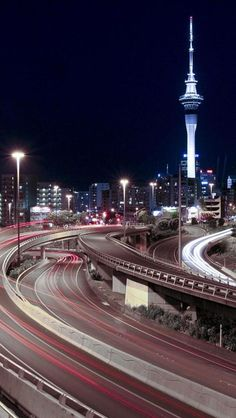 Highways, Night, Travel, Auckland, North Island, New Zealand,