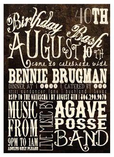 Rustic Birthday Bash Invitation by kyankedesigns on Etsy, $43.75