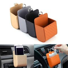 PU leather Handmade Car Seat Catcher Gap with Tablet iPhone Holder Filler Organiser Side Pocket Coin Side Pocket Console Side Pocket Car Organizer Drivers Side 2 pack Black