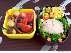 Change up your kid's everyday lunch with these fun, healthy bento lunch box ideas. Plus, get more delicious kid and toddler lunch ideas! Bento Box Lunch, Lunch Snacks, Lunch Boxes, Box Lunches, Healthy Toddler Lunches, Healthy Snacks, Toddler Snacks, Cute Food, Funny Food