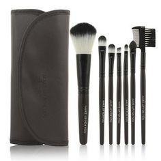 2014 HOT !! Professional 7 pcs Makeup Brush Set tools Make-up Toiletry Kit Wool Brand Make Up Brush Set Case free shipping PY
