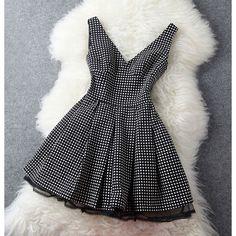 Cool!  Vintage Temperament Polka Dot Slim Halter Dress Vest Dress just $98.99 from ByGoods.com! I can't wait to get it!