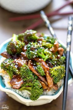 Broccoli & Beef Rice Bowls make the perfect weeknight dish