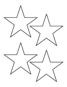 4 inch star pattern. Use the printable outline for crafts, creating stencils, scrapbooking, and more. Free PDF template to download and print at http://patternuniverse.com/download/4-inch-star-pattern/