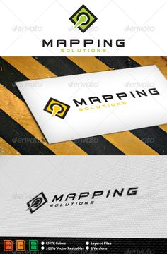 Mapping Logo Template  #GraphicRiver         Layered files, 100% vector.  	 Font used: Bitsumishi  You can find it here:  .dafont /bitsumishi.font 	 Files are Adobe CS and Corel 11 compatible.     Created: 30September11 GraphicsFilesIncluded: VectorEPS #AIIllustrator #CorelDRAWCDR #VectorEPS #AIIllustrator Layered: Yes MinimumAdobeCSVersion: CS Resolution: Resizable Tags: clean #direction #green #lime #logo #map #mapping #pin #place #template #yellow