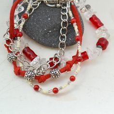 Aphrodite Four Strand Quartz Bracelet Silver by AURAGEMSbyHeather