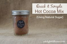 Quick and Simple Hot Cocoa Mix. Cocoa with Coconut Sugar